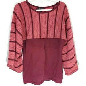 CABLE AND GAUGE SWEATER. Size L